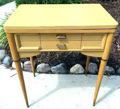 folding portable sewing station table old