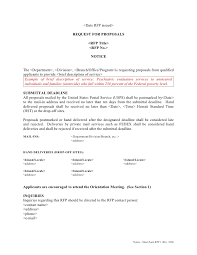 example short form rfp template short form 1