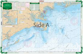 Apalachicola Bay To St Marks River Large Print Navigation Chart 18e
