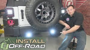 jeep wrangler jk kc hilites led backup light kit c series clear 2007 jeep wrangler jk kc hilites led backup light kit c series clear 2007 2018 installation