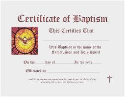 Free Printable Baptism Certificate Unique Baptism Certificate Free