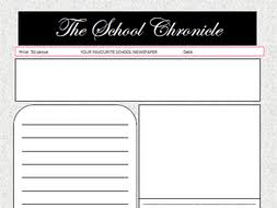 Basic Newspaper Template Newspaper Template Free By Oldham30 Teaching Resources Tes