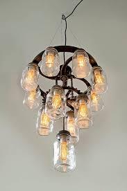 awesome mason jar chandelier 3 tier industrial cast iron gears for mason jar chandelier for