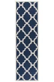 moda trellis blue hall runner