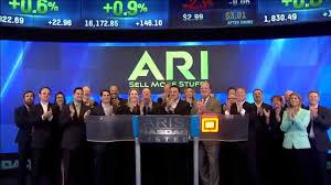 Ari Network Services Ari Network Services Rings Nasdaq Closing Bell Youtube