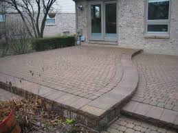 building a raised patio with pavers
