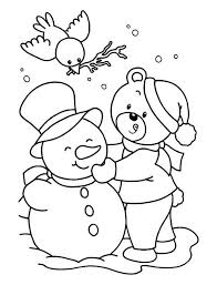 Small Picture Coloring Page Snowman Simple Frosty The Snowman On Christmas