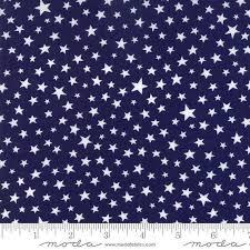 101 best Beautiful Quilting Fabric images on Pinterest   Colour ... & Patriotic Stars on Navy Blue Fabric - Moda Modifications Indigo 9886 32 -  Blue White Mini Stars Fabric - 1 Yard Cut BTY - Americana Fab Adamdwight.com