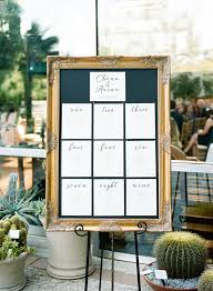 Picture Frame Seating Chart Seating Chart Displayed In Gold Picture Frame