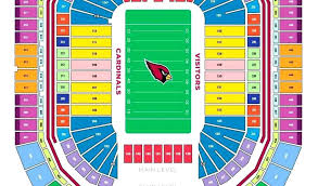 Arizona Cardinal Seating Chart Virtual 25 All Inclusive Seating Chart Cardinals Stadium Glendale