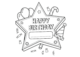 Birthday Coloring Pages With Birthday Balloons Coloring Page