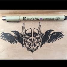 Pen Ink Odin Viking Drawing Sketch Draw Art Tattoo Imgur