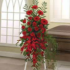 sympathy flowers flowers expo flower red funeral spray