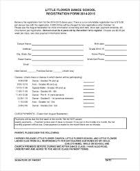 Class Registration Form Template Registration Form Template 9 Free
