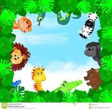 jungle animals border clipart.  Animals Baby Safari Animals Cartoon  Bing Images Jungle Animals  Border Templates Inside Clipart