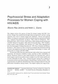 psychosocial stress and adaptation processes for women coping inside