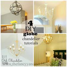 4 diy orb globe chandelier tutorials