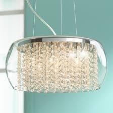possini euro crystal rainfall glass drum 17 wide chandelier