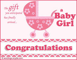 Congratulations Messages For New Baby Girl Wordings And