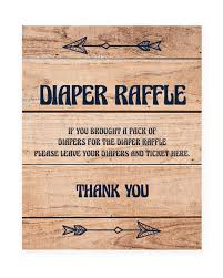 raffle sign woodland baby shower printable diaper raffle sign instant download