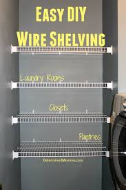 Wire closet shelving Heavy Duty Easy diy Wire Shelving Cheap Easy And Quick To Install More Ottobitinfo Easy diy Wire Shelving Cheap Easy And Quick To Install
