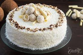 Almond Coconut Cake Raffaello Cake Home Cooking Adventure