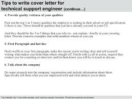 It Support Covering Letter Technical Support Engineer Cover Letter