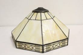 Leaded Glass Lamp Shade Signed Dale Tiffany Inc