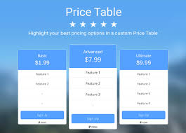 Pricing Chart Examples Price Table Overview Wix App Market Wix Com
