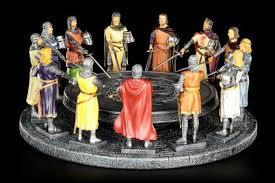preview round table king arthur with 12 knights colored