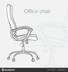 office chair drawing. Wonderful Chair Office Chair Drawn In A Schematic Style U2014 Stock Vector In Chair Drawing T
