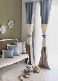 Living Room Curtain Design Gorgeous Custom Made Brief Blue And White Color Block Decoration Living R