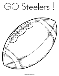 Small Picture GO Steelers Coloring Page Twisty Noodle