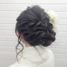 黒髪 フェミニン ロング 結婚式hairspaceuniverse Universe 349293hair