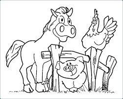 Coloring Pages Printable Animals Easy Farm Colouring Sheets Free