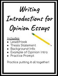 Example Of Opinion Essays Opinion Writing Introduction Worksheets Teaching Resources