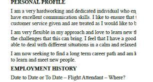 Cv Format For Airlines Job Flight Attendant Cv Example Template Lettercv Com