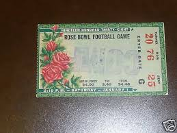 1938 Rose Bowl Ticket California Alabama Ebay