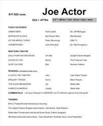 Acting Resume Beginner Actor 3 Resume Format Pinterest Sample Resume Resume And