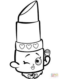 Lippy Lips Shopkins Coloring Page Digital Trendinfo