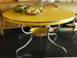 yellow retro kitchen table
