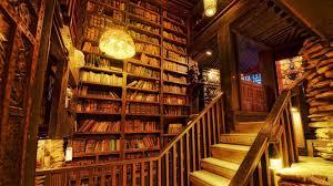 Old World Home Library Wallpaper | WallpaperToon