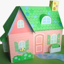 Pink Cottage Dollhouse Printable Paper Craft PDF