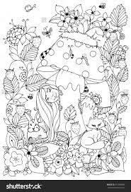 Vector Illustration Zen Tangle Girl With