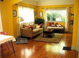 Living Room:Yellow Living Room With Glossy Wooden Flooring Fits The Room  Space Yellow Living