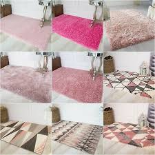 soft fluffy gy baby pink girls rugs small large nursery blush rug new