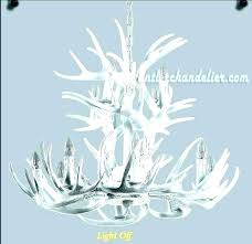 white antler chandelier chandeliers faux contemporary bathroom