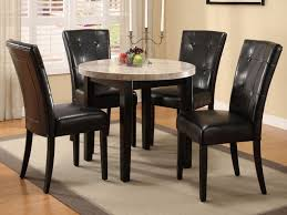 modern dining room chairs leather table and chairs modern round leather marble