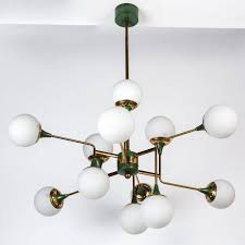 globe chandelier design with white ceramic floor and small glass windows also grey wall for family