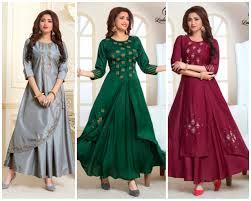 Banarasi Kurti Ke Design Top Designer Diwali Festive Wear For Women Wishbook